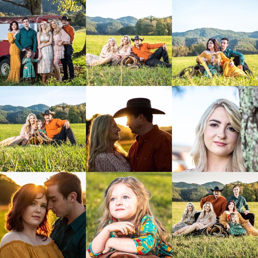 outdoor portraits, family portraits, smoky mountains